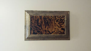 1 of tiger burning in custom frame!