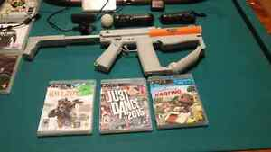 Ps3 500g 2 controller playstation move accessory and games 250$