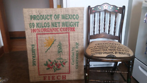 Coffee themed chair and bag