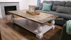 Balustrade Coffee Table - accent furniture (breadboard top)