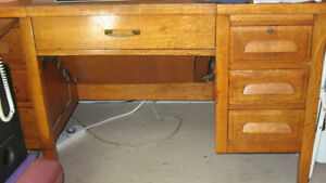 Antique Solid Wood Office Desk