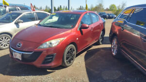 2010 MAZDA 3 AUTOMATIC LOADED BURGUNDY NEW TIRES