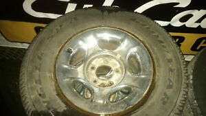 GREAT USED 255 75 17 GOODYEAR WRANGLERS ON FORD 5-BOLT RIMS