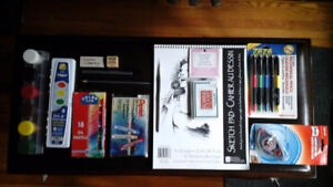 New School Supplies including New Art Supplies