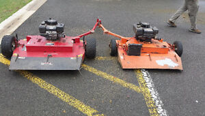 2 Trailing  offset Mowers  Swisher