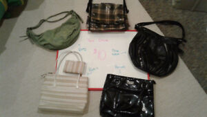 Purses, Backpacks, hand bags, shoulder bags, and wallets
