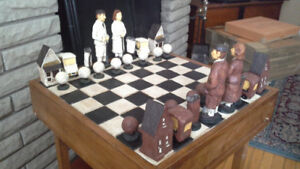 Golf In Scotland Handcrafted Chess Set