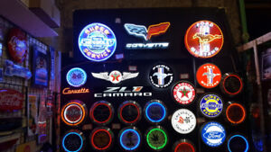 Neon signs and more. Christmas is just around the corner
