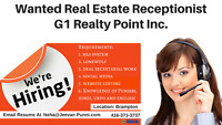 Looking For Experienced Real Estate Receptionist