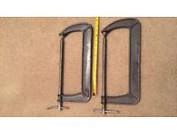 """2x 12"""" Large G clamps pair"""
