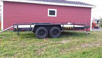 (Reduced)Heavy duty tandem trailer