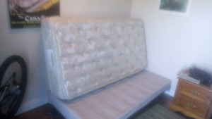 Sears-o-pedic single bed.