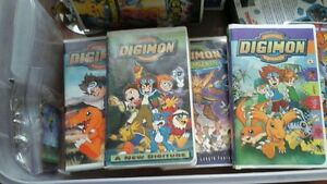 Assorted Digimon movies VHS 30.00 For all