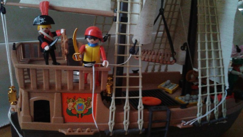 Playmobil 3550 Pirate ship VTG Complete