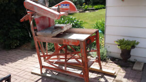 Masonry Table  and Wet Saw