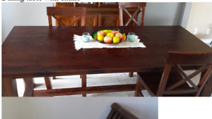 Big dining table for sale.