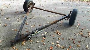 Trailer axle and tongue