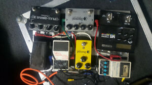 Guitar pedals and power supply