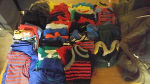 BOYS 4T SHORTS, PANTS, T SHIRTS, KIDS FOOT WEAR ALL FOR $20