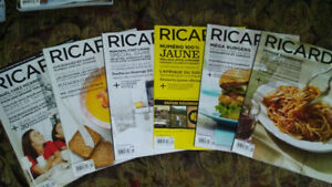 Magazines Ricardo * volume 10, numéros 1 à 5, 8
