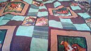 Patch work horse blanket