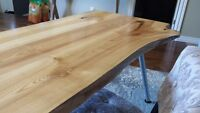 Unique Wormy Maple Live Edge Dining Table