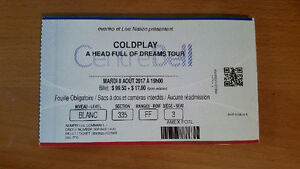 Coldplay Bell Center Tuesday 8 August