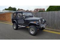 Jeep CJ7 4X4 4.2 WRANGLER 1983 ONLY 99K MAT BLACK LHD LEFT HAND DRIVE