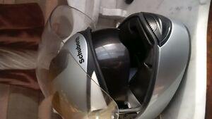 BMW helmet, new, suze M, gray