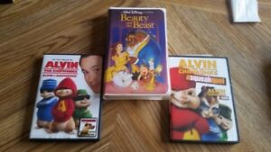 Children's DVD's and VHS Tape For Sale