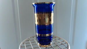 Vintage Royal Blue & Gold Vase