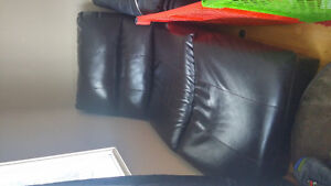 2 Dark brown Lounge chairs