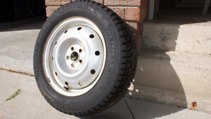 Set of 4 General Altimax Arctic 215 60/R16's on rims for sale