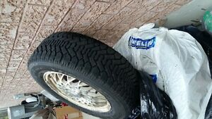 P225/60R16 GOODYEAR NORDIC WINTER TIRES /INCLUDES RIMS