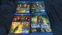 Pirates Of The Caribbean Blu-ray Movies