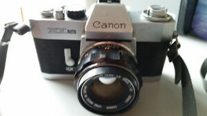 Canon EX Auto QL 35mm SLR Film Camera From Japan