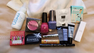 Bag of Makeup & beauty products, full and sample size