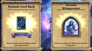 Hearthstone Tyrande Whisperwind & Card back Digital Code INSTANT