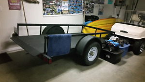 Golf cart and trailer
