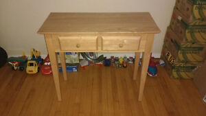 Beautiful corner table or tv stand with drawers.