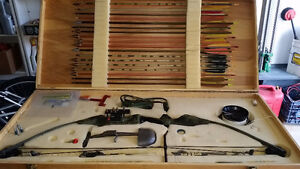 Archery complete compound BOW & ARROW in case for sport hunting.