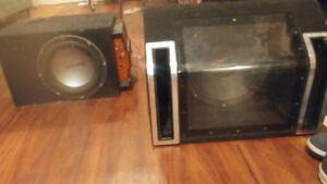 2 subwoofers with an amp