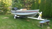 14 Foot Alumacraft Fishing Boat