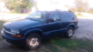 Selling my 2002 Chevy  Blazer as I need a vehicle with 4 doors