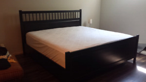 Ikea Hemnes king bed frame with matress