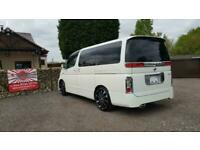 Nissan Elgrand 3.5 automatic 8 seater white MPV day van japanese import grade 4