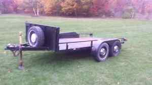 Tandem utility trailer