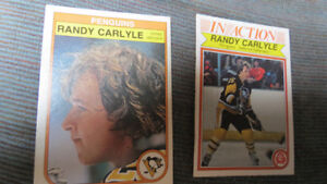 2 1982-83 OPC NHL Randy Carlyle cards
