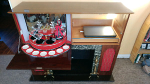 1970's fireplace / bar/stereo cabinet.
