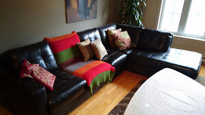 Leather Sofa/Couch (L Shaped)